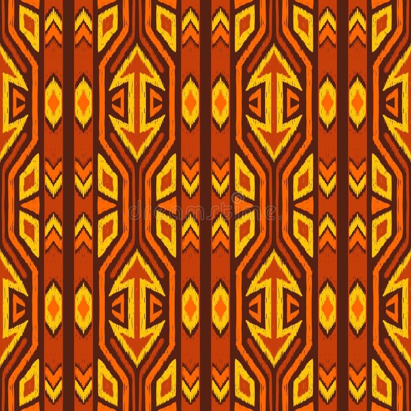 Patroon van de Ikat het geometrische folklore vector illustratie