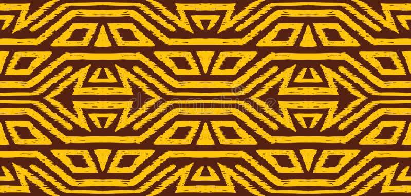 Patroon van de Ikat het geometrische folklore royalty-vrije illustratie