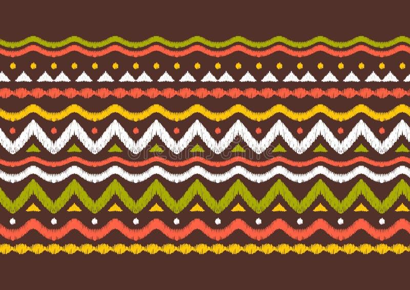 Patroon van de Ikat het geometrische folklore stock illustratie