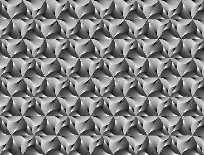 Patroon van de ontwerp het naadloze zwart-wit driehoek royalty-vrije illustratie