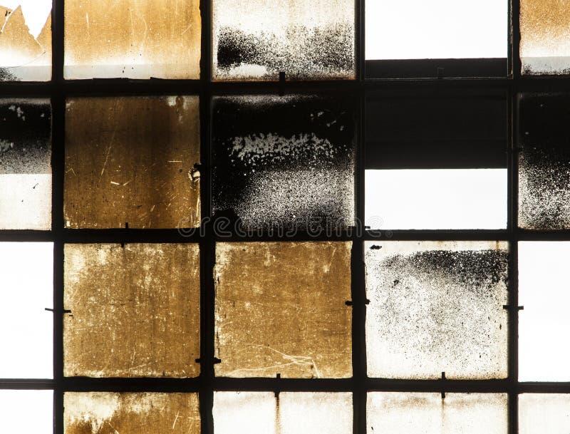 Patroon van de oude gebroken industrie stock foto
