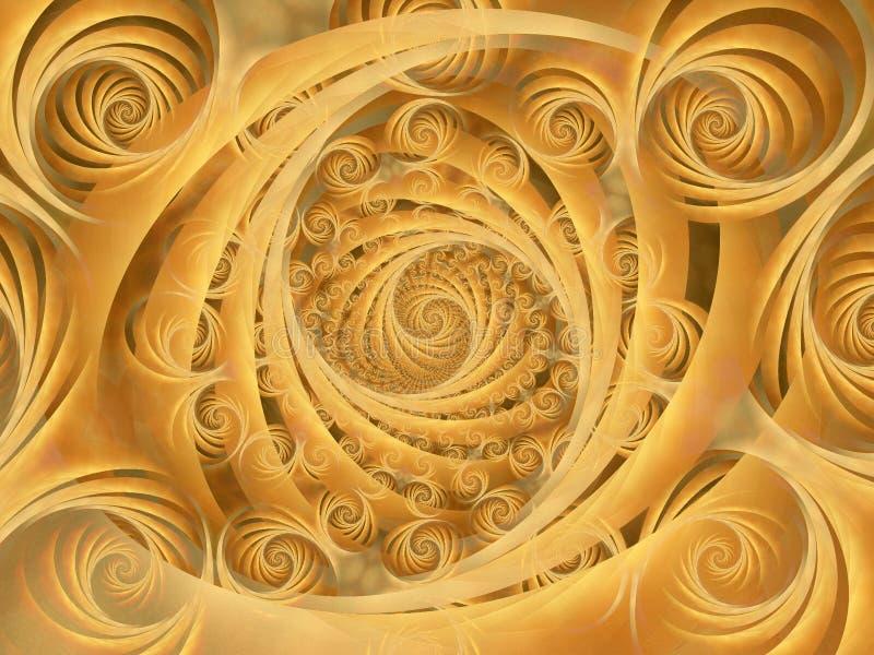 Patroon van de Spiralen van Wispy het Gouden royalty-vrije stock foto