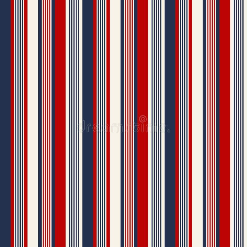 Patroon van de stijl naadloze strepen van de stoffen Retro Kleur Abstracte vector royalty-vrije illustratie