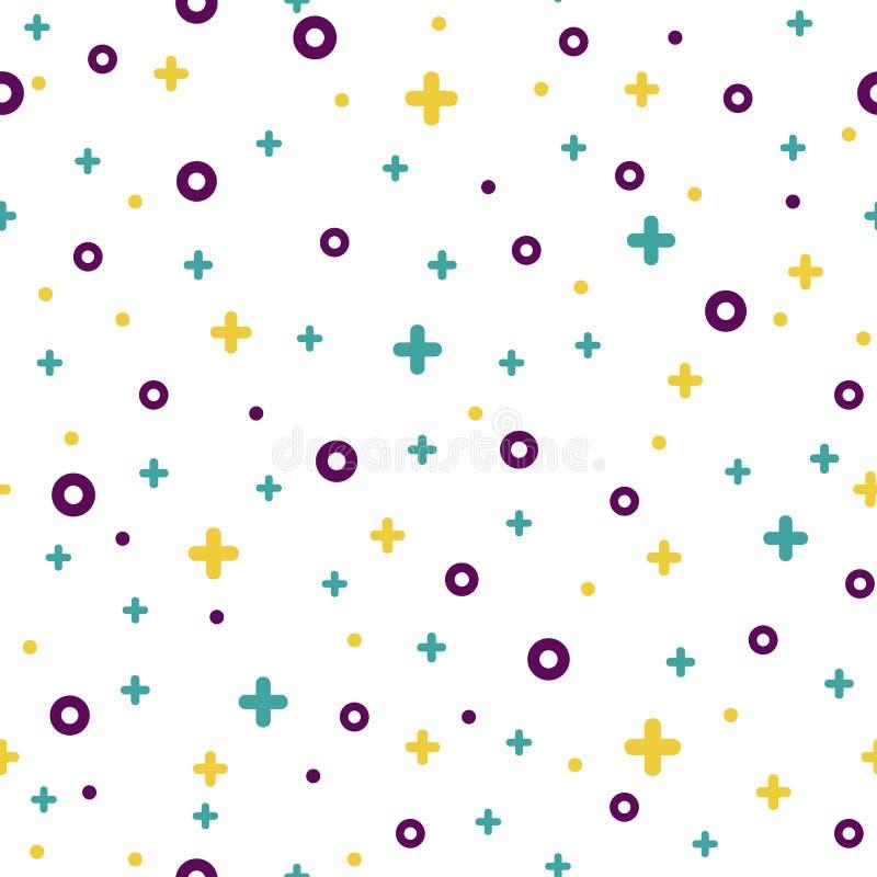 patroon van de vorm witte Memphis van de de jaren '80stijl het abstracte vector illustratie