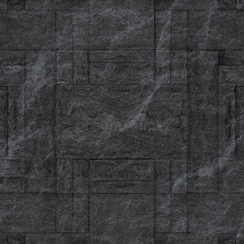Patroon van decoratieve zwarte de muuroppervlakte van de leisteen royalty-vrije stock foto