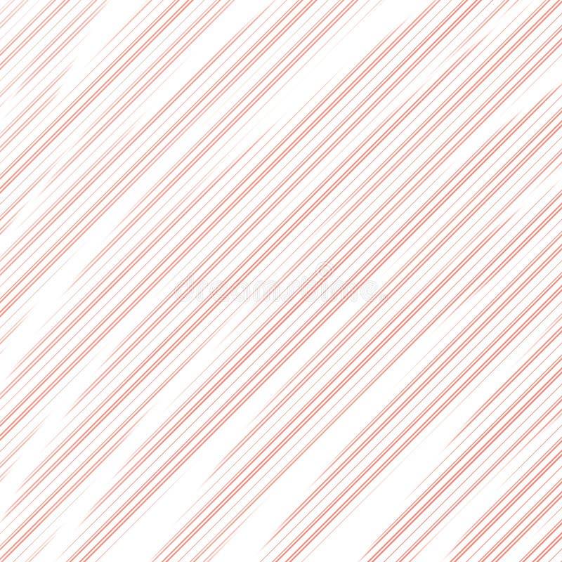 Patroon van diagonale abstracte koraalstrepen op witte achtergrond Druk voor kleren Helder ontwerperelement stock illustratie