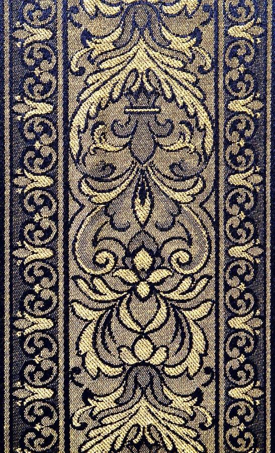 Patroon van een overladen bloementapijtwerk stock foto