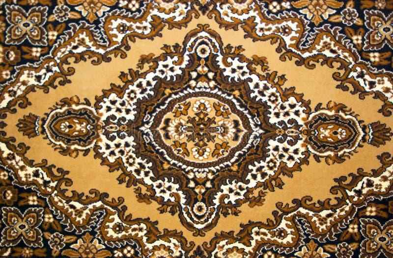 Patroon van een wollen tapijt stock foto