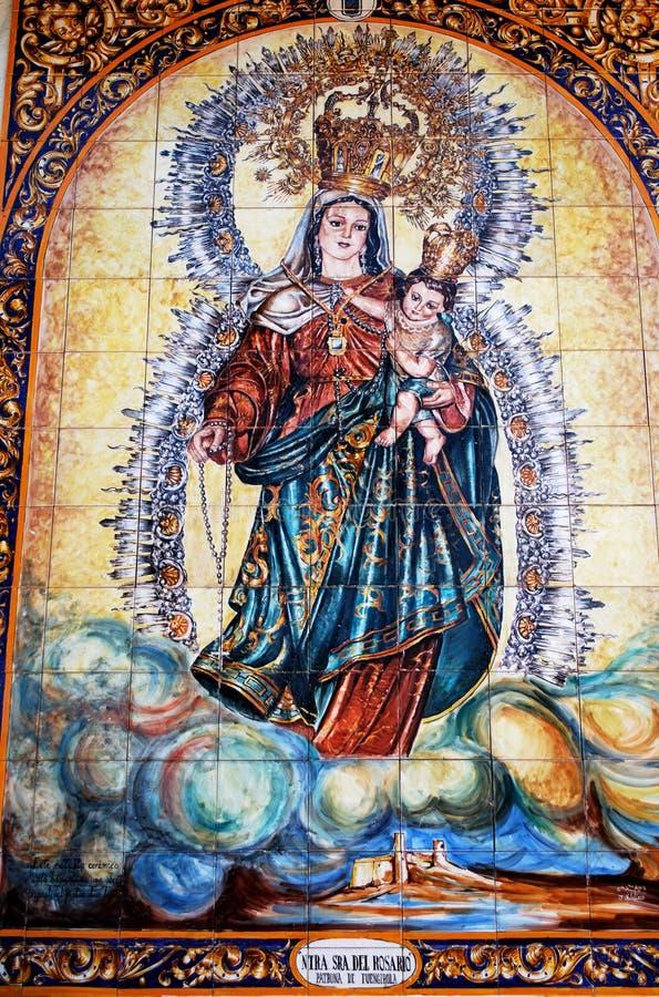 Patroon van Fuengirola stock afbeelding
