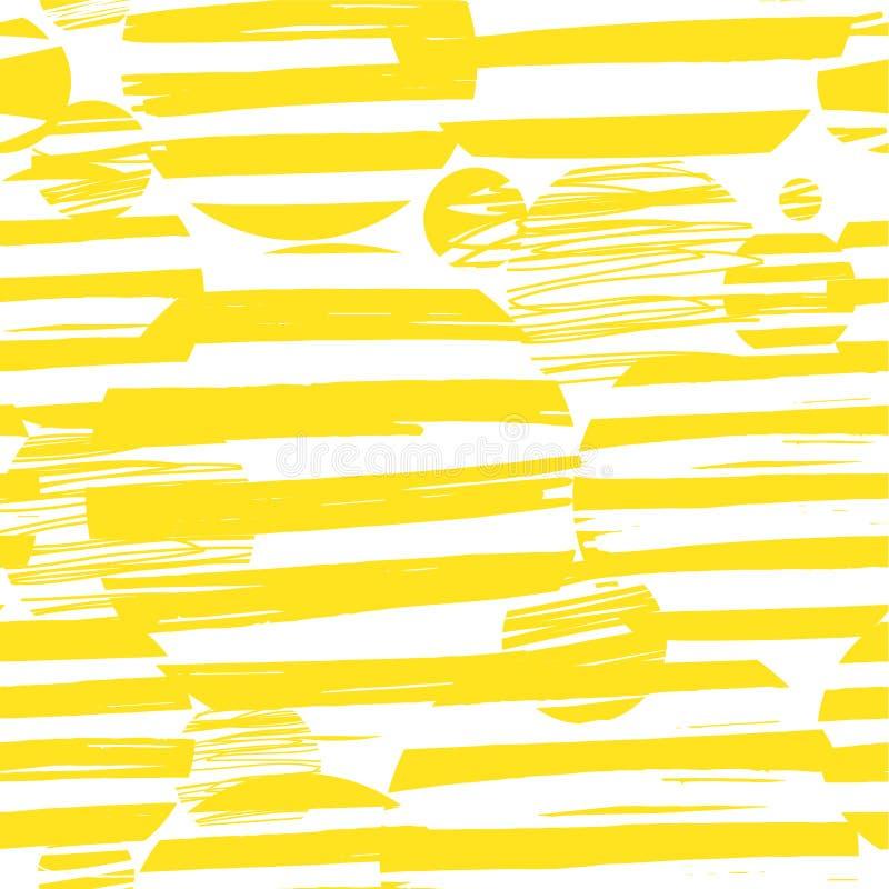 Patroon van gele cirkelsstrepen stock illustratie