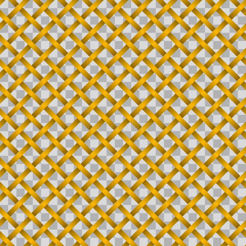 Patroon van gouden vlechten zonder achtergrond stock illustratie