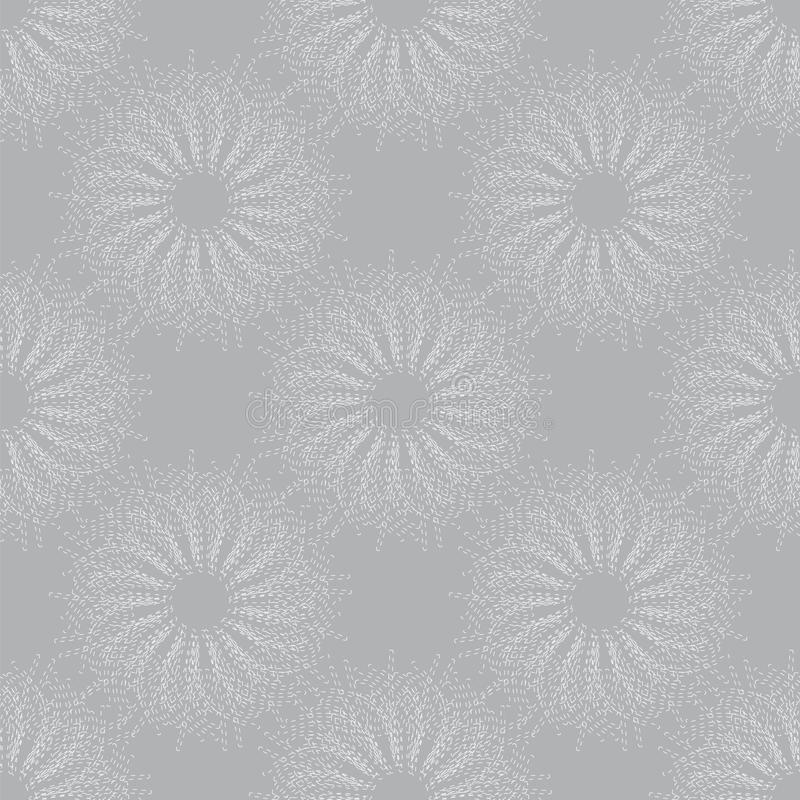 Patroon van grijze cirkels royalty-vrije illustratie