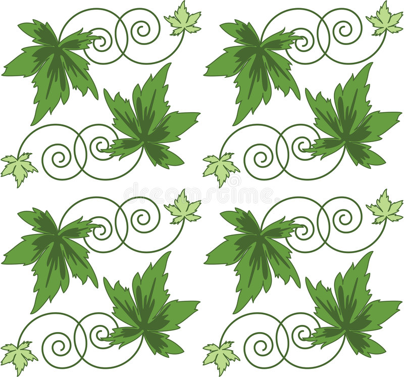 Patroon van groene bladeren. Naadloos cijfer. royalty-vrije illustratie