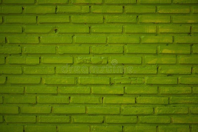 Patroon van Groene het Gegroefte bakstenen muurachtergrond en geweven, bedriegt royalty-vrije stock foto