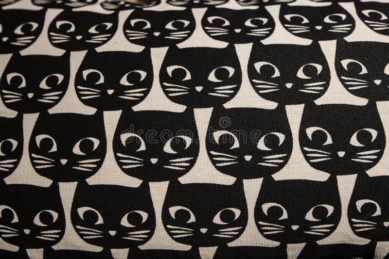 Patroon van het katten het hoofdbeeldverhaal royalty-vrije stock afbeelding