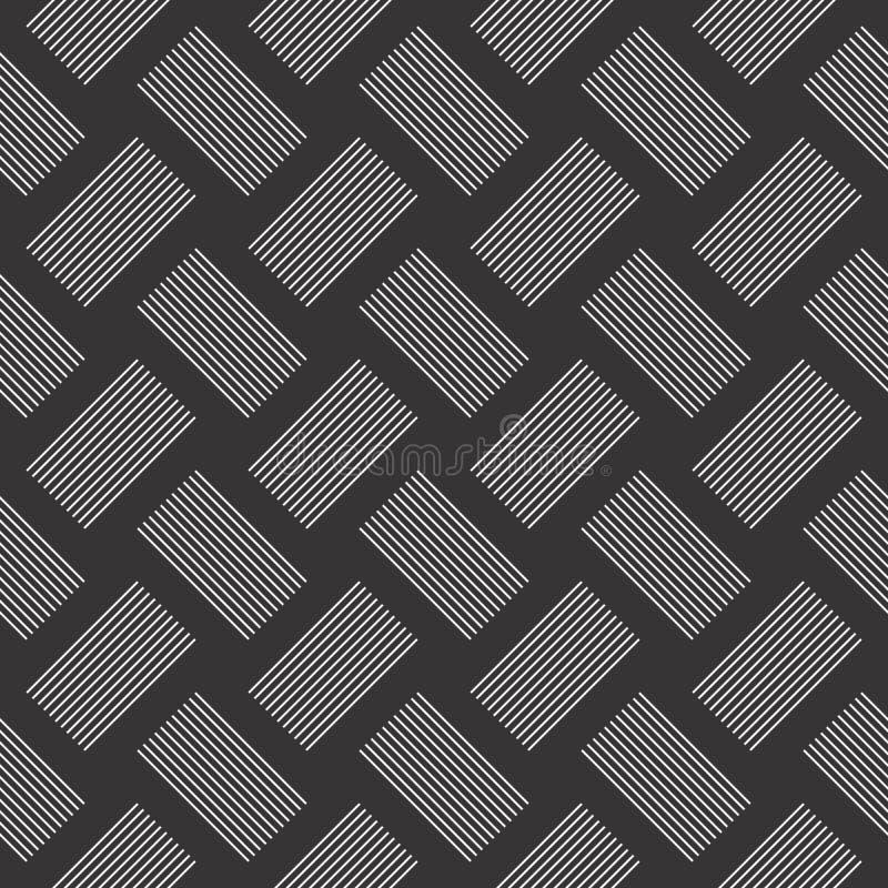 Patroon van het het motief het naadloze ontwerp van de lijncontrole stock illustratie