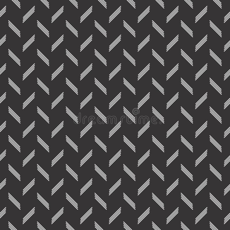 Patroon van het het motief het naadloze ontwerp van de lijncontrole royalty-vrije illustratie