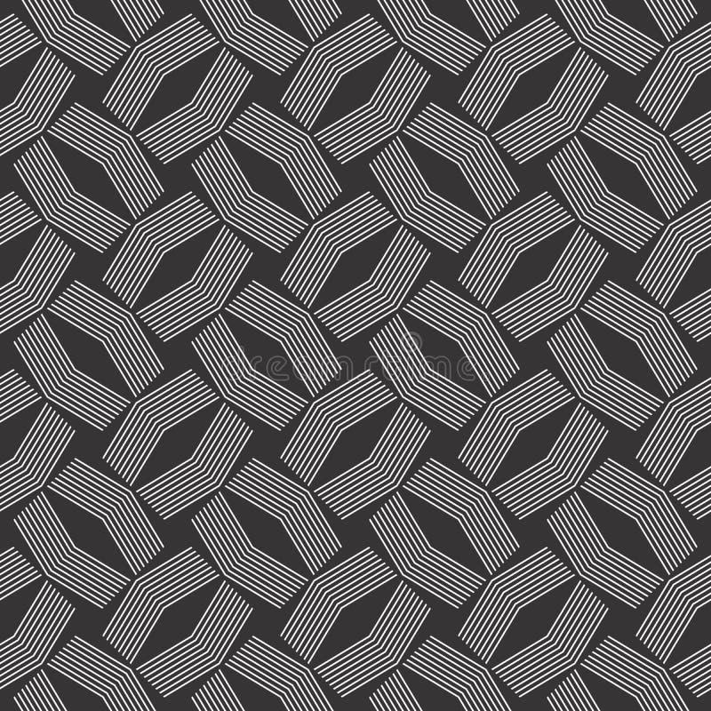 Patroon van het het motief het naadloze ontwerp van de lijncontrole vector illustratie