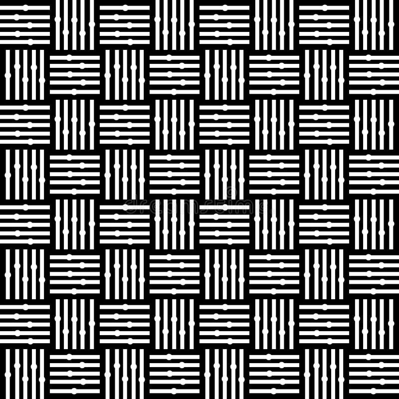 Patroon van het het motief het naadloze ontwerp van de lijncontrole Grijs, gebogen vector illustratie