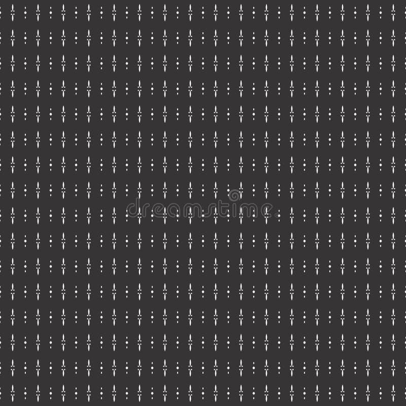 Patroon van het het motief het naadloze ontwerp van de lijnpunt royalty-vrije illustratie
