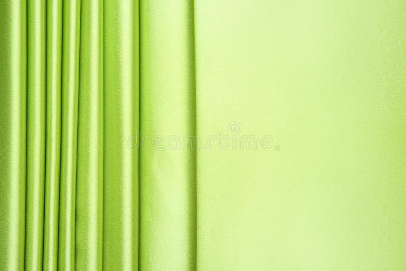 Patroon van het satijnstrepen van de kalk het groene stock afbeelding