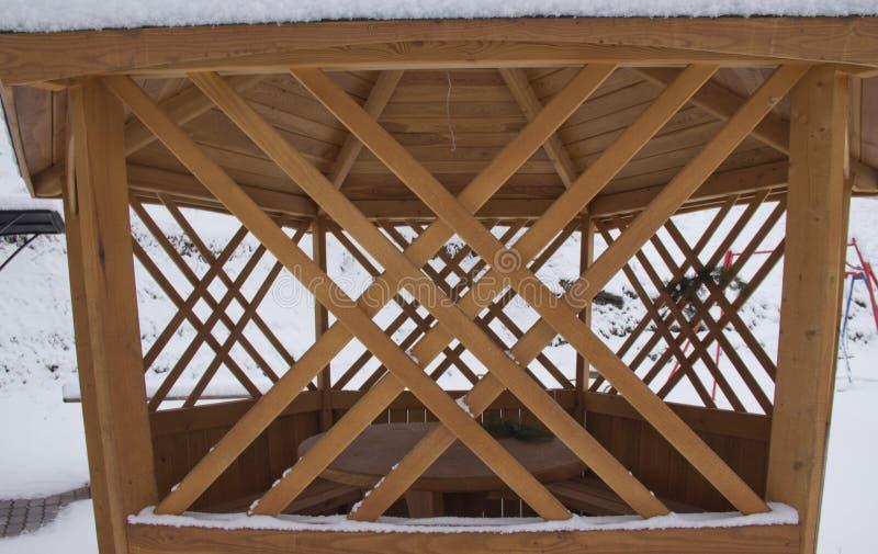 Patroon van houten veranda royalty-vrije stock afbeelding