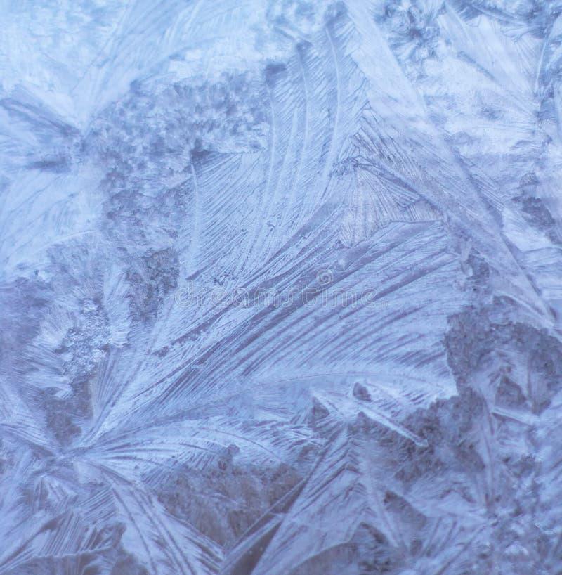 Patroon van ijskristallen stock afbeeldingen