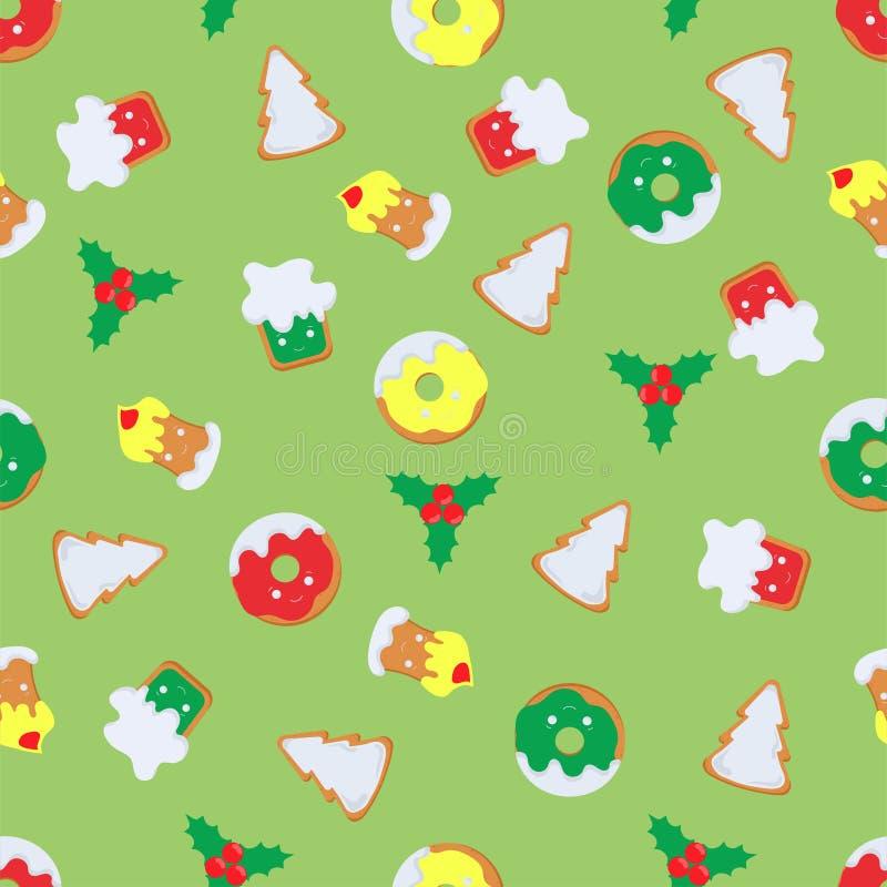 Patroon van Kerstmissymbolen vector illustratie
