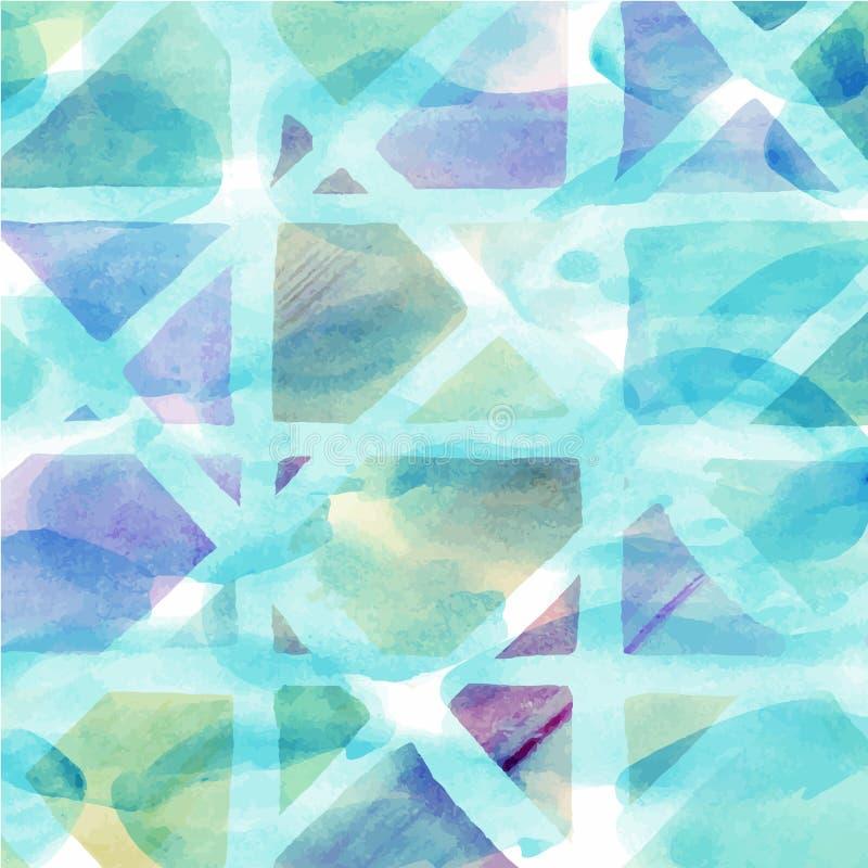 Patroon van kleurrijke abstracte geometrische waterverf royalty-vrije illustratie