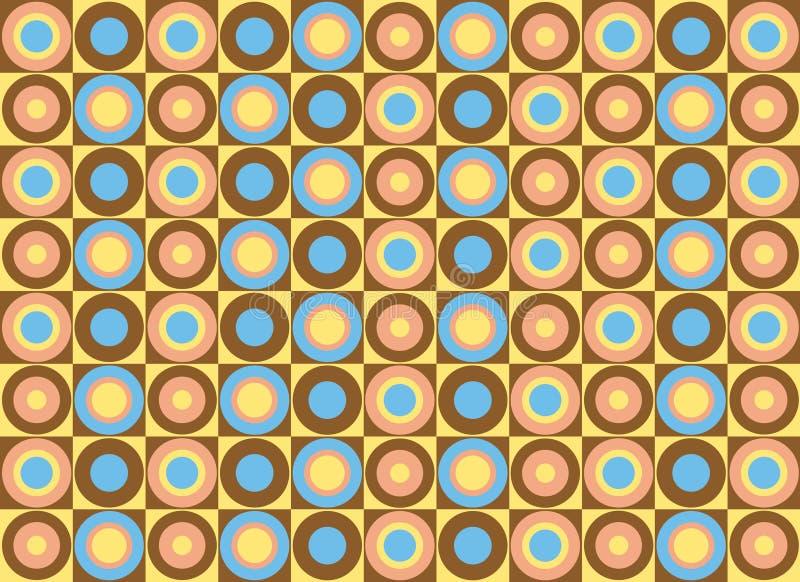 Patroon van kleurrijke cirkels. Vector art. stock illustratie