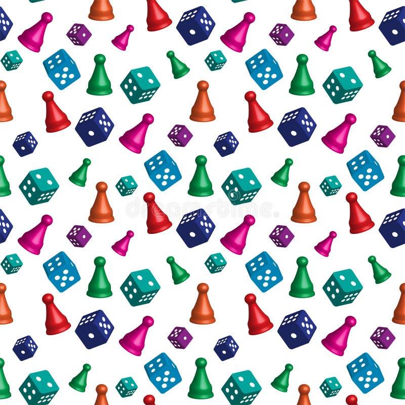 Patroon van kleurrijke kubussen en panden voor het spel vector illustratie