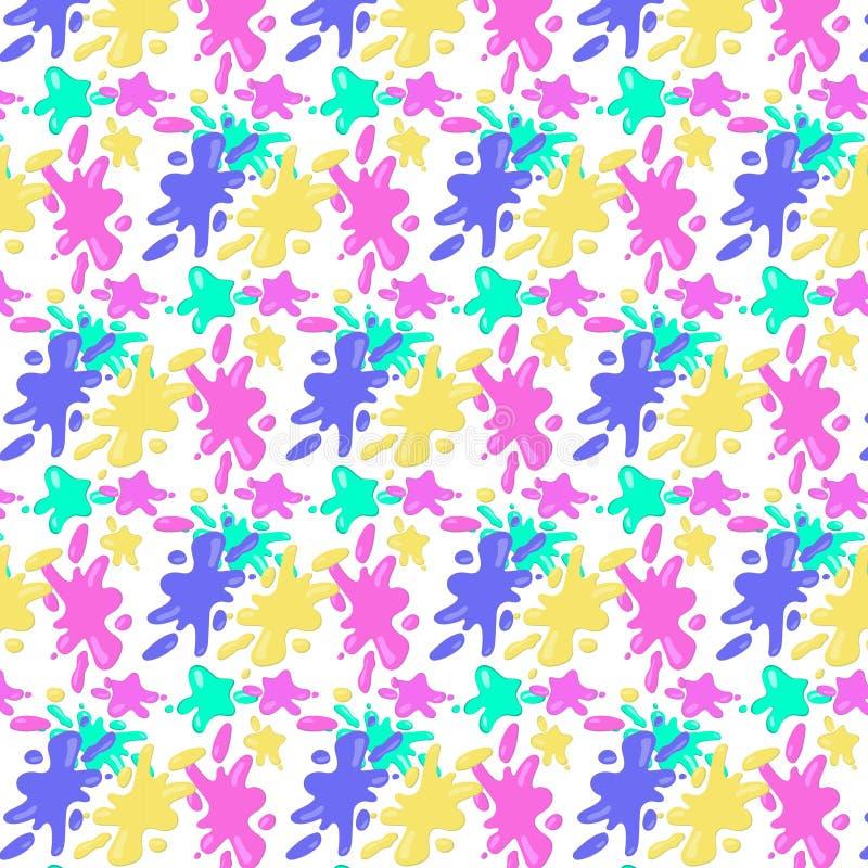 Patroon van kleurrijke vlekken op een transparante achtergrond vector illustratie