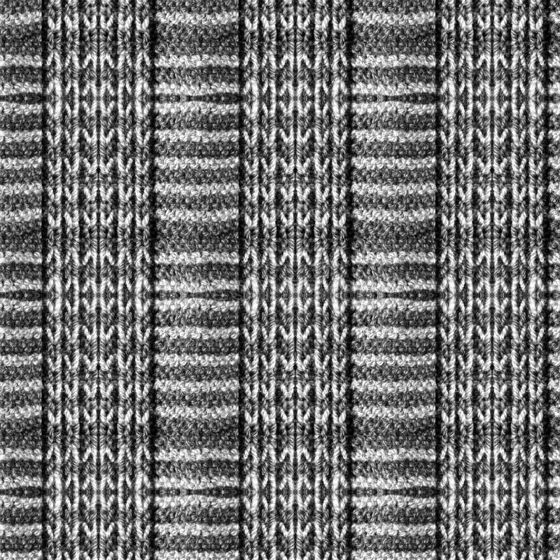 Patroon van met de hand gebreide sjaal stock foto