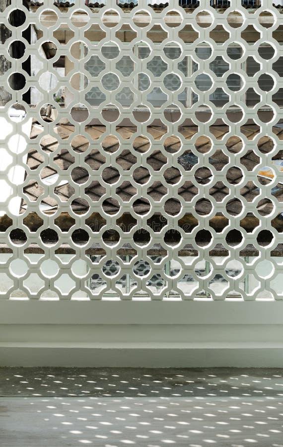Patroon van muurvoorgevel stock foto