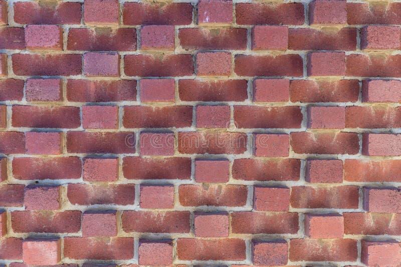 Patroon van rode bakstenen muur, Hobart Australia stock afbeelding