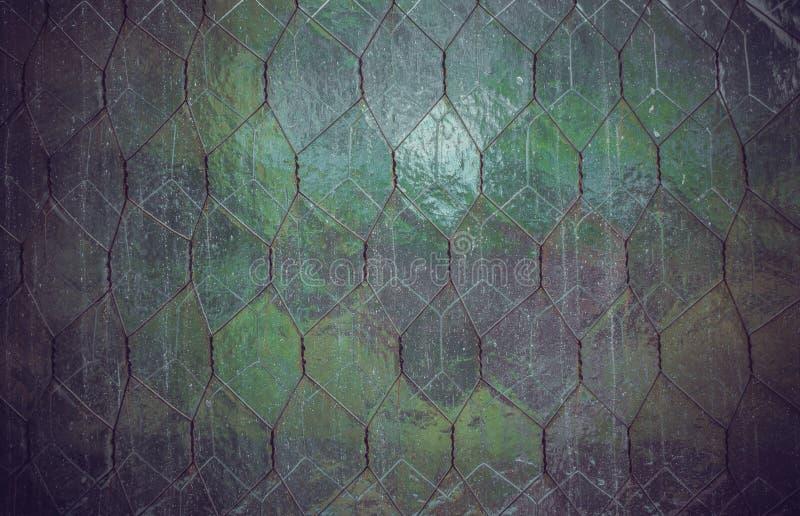 Patroon van vissenschalen Textuur van oud glas royalty-vrije stock foto