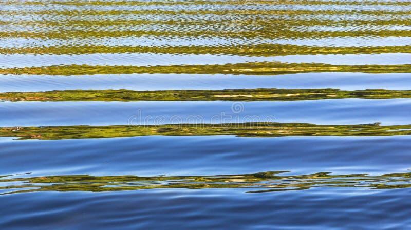 Patroon van water met golven stock fotografie