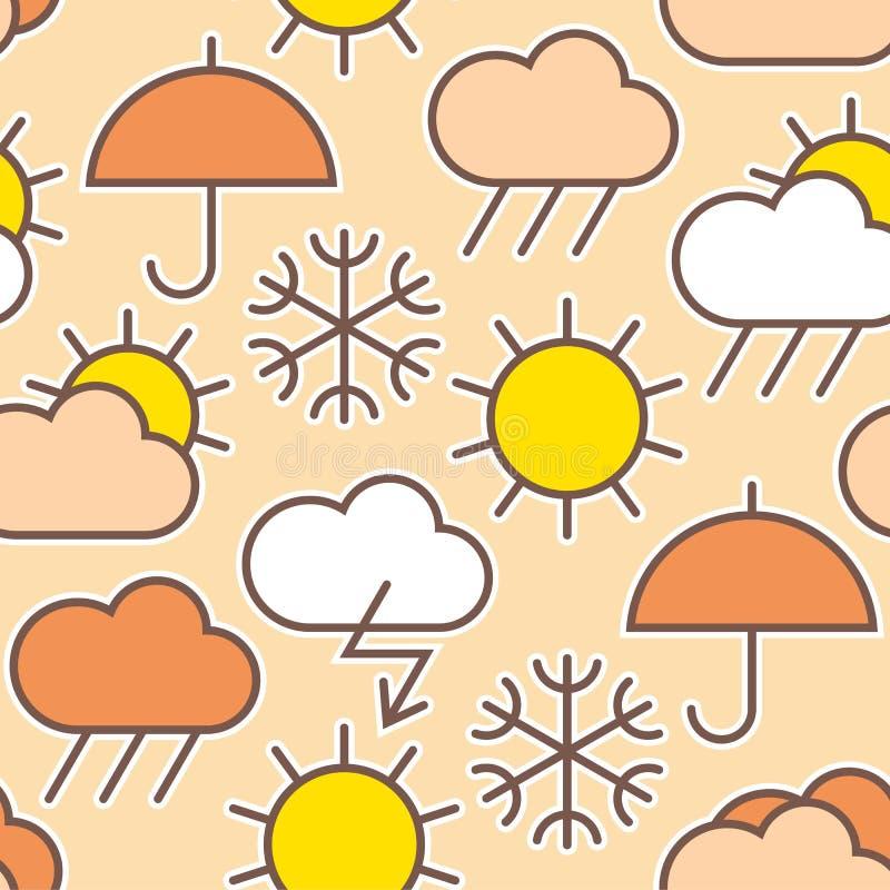 Patroon van weersymbolen royalty-vrije illustratie
