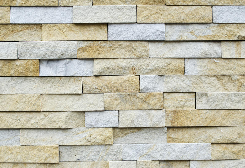 Patroon van Witte Moderne Opgedoken steenBakstenen muur stock fotografie