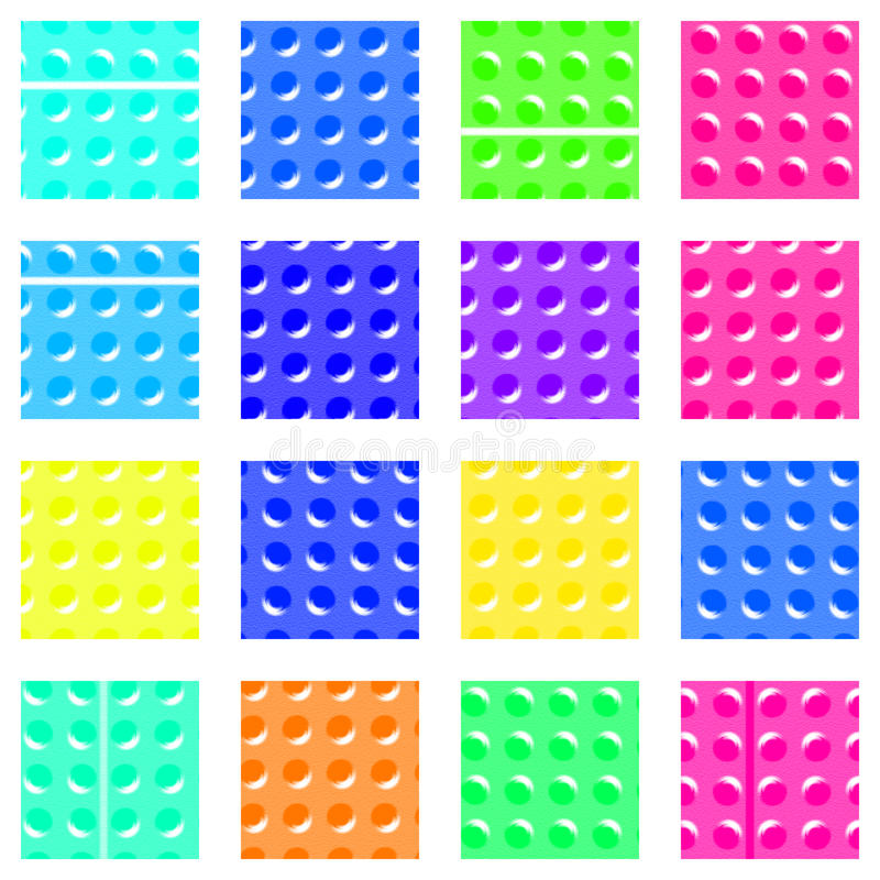 Patroon - vierkanten met knoppen royalty-vrije stock foto