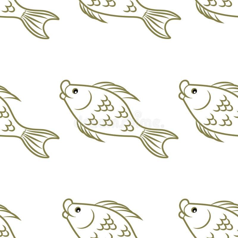 Patroon Vissen Onderwater wereld stock illustratie