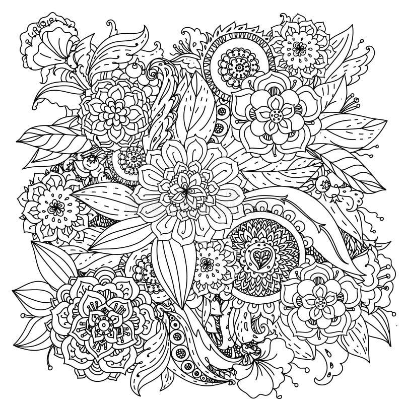 Patroon voor het kleuren van boek royalty-vrije illustratie