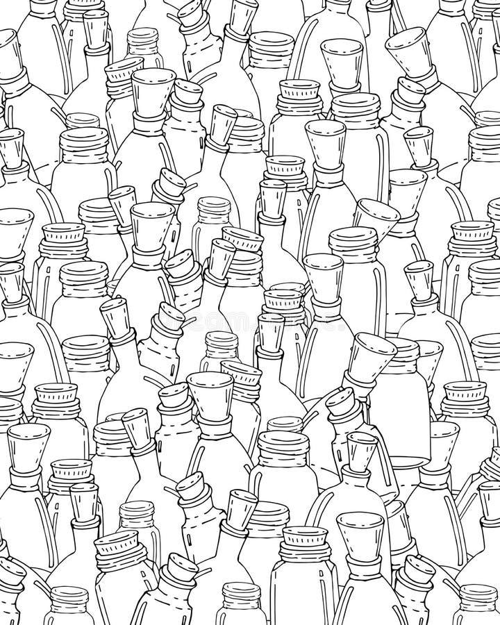 Patroon voor het kleuren van boek vector illustratie