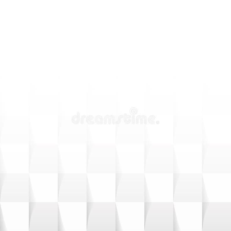 Patroon witg grijze vierkante tegels stock illustratie