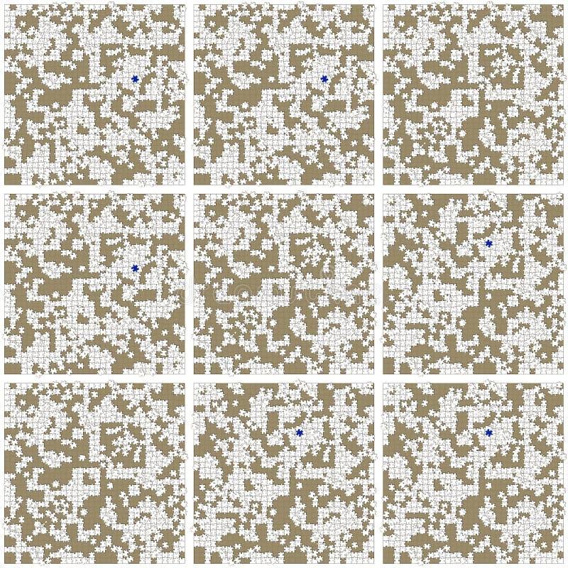 Patroon - witte onvolledige raadsels stock afbeeldingen