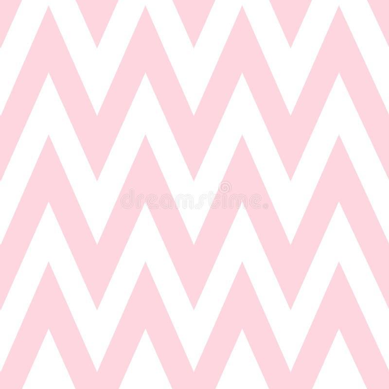 Patroon in zigzag Klassiek chevron naadloos roze vector illustratie