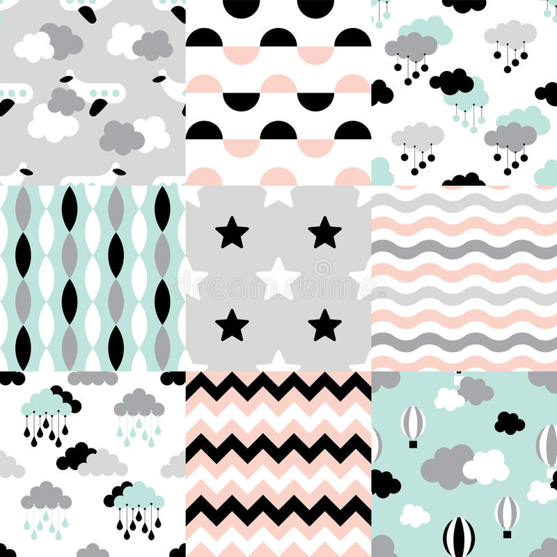 Patroonbaby 1 vector illustratie