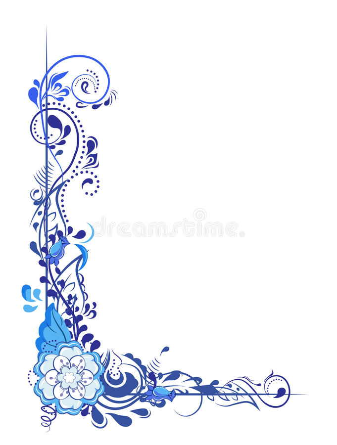 Patroonbloem stock illustratie