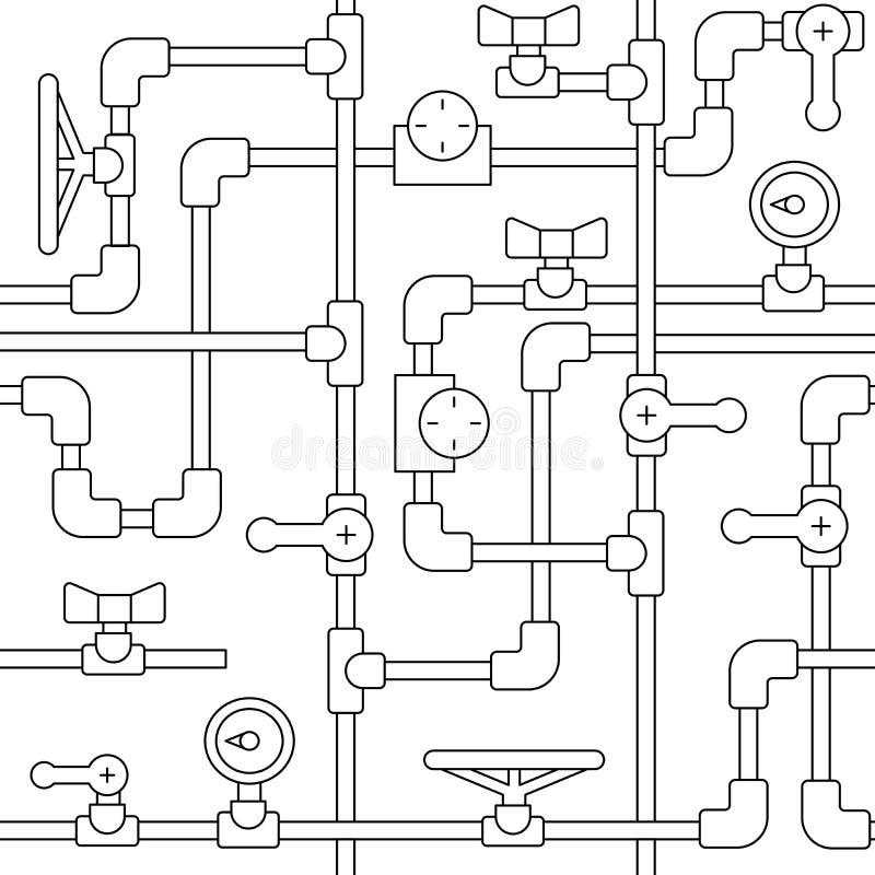 patroonpijp vector illustratie