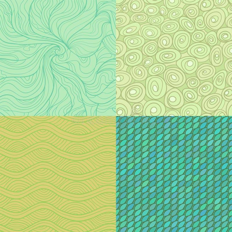 Patroonreeks vector illustratie